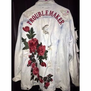 Fashion Nova Always Up To Something Denim Jacket